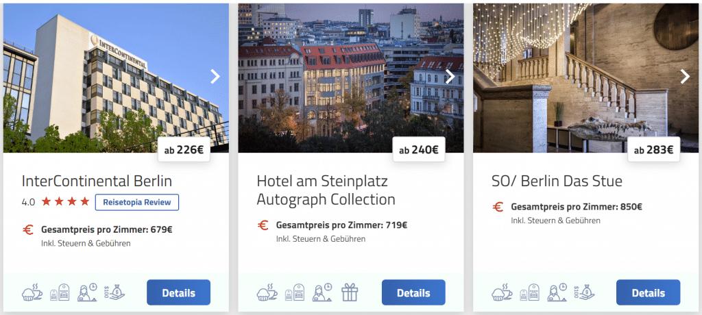 Screenshot Hotelsuche