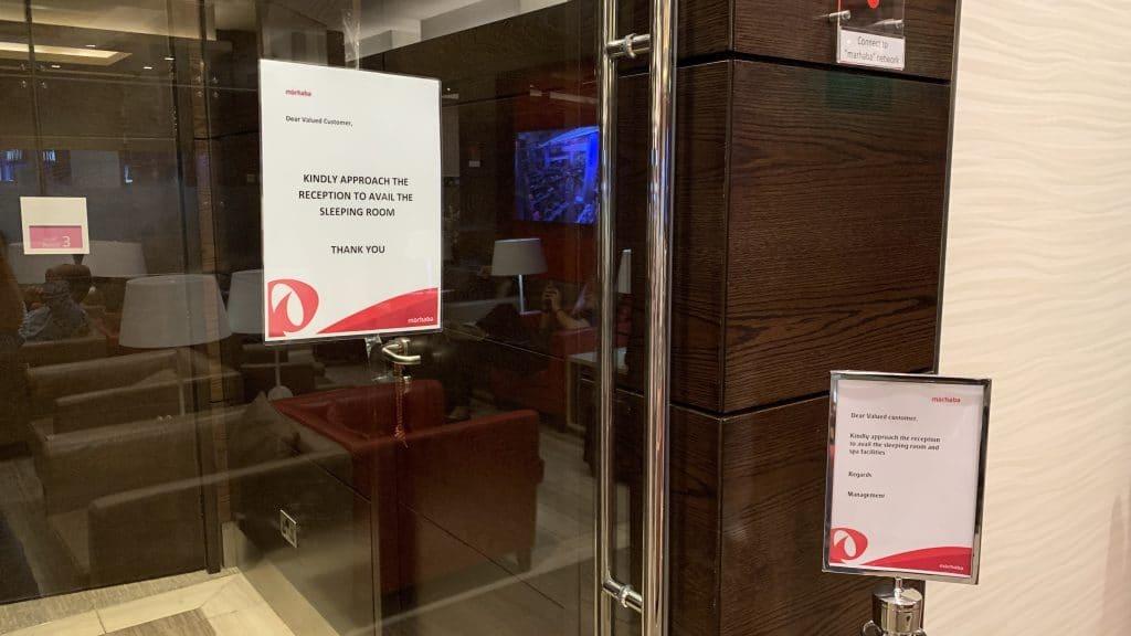 Marhaba Lounge Dubai Terminal 1 Sleeping Rooms