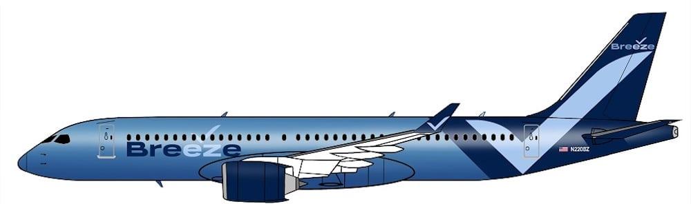 Breeze Airways Lackierung
