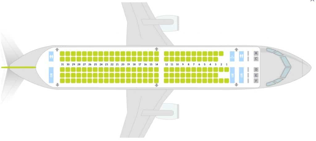 airBaltic A220 Seatmap