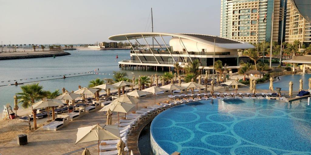 Jumeirah At Etihad Towers Abu Dhabi Frühstück Ausblick 3