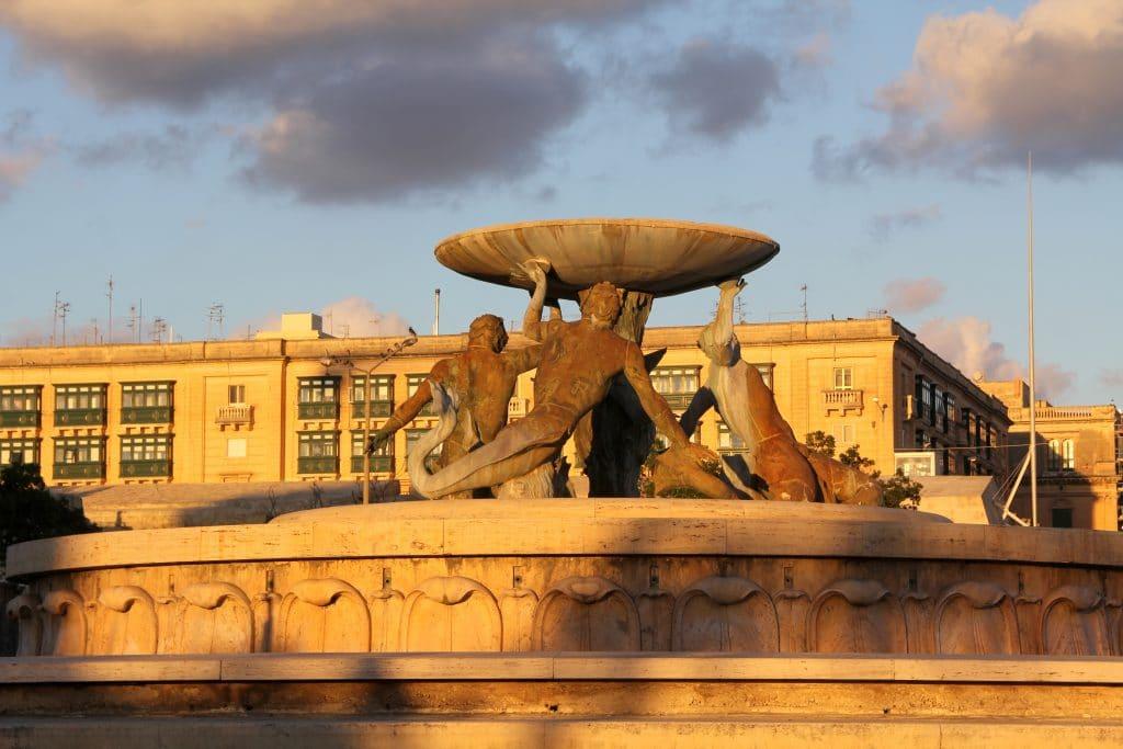 Triton Fountain Valetta Malta