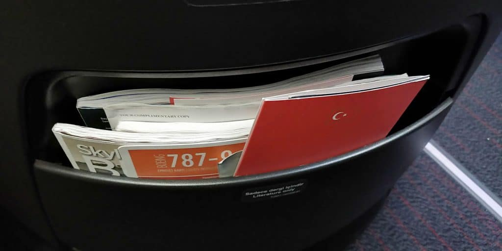 Turkish Airlines Business Class Boeing 787 Ablage 2