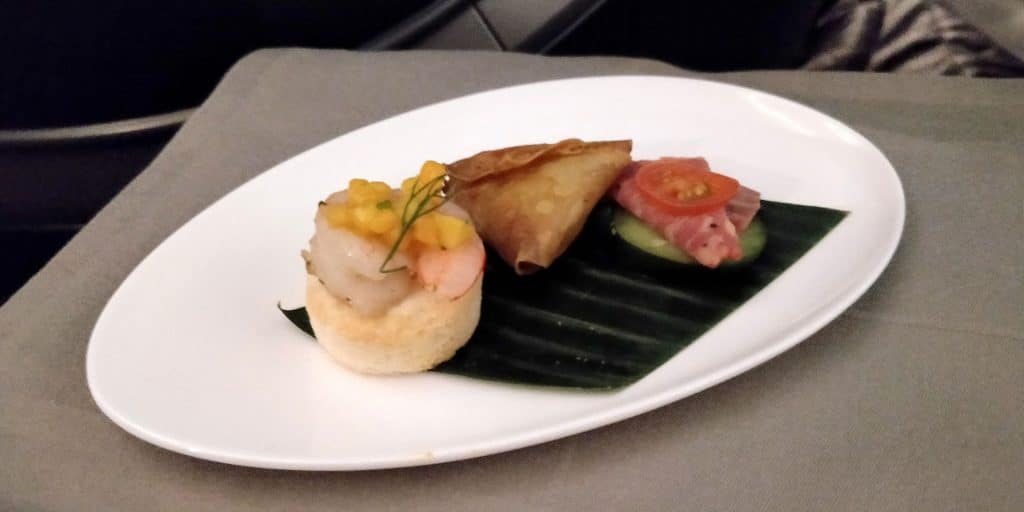 Turkish Airlines Business Class Boeing 787 Canapes