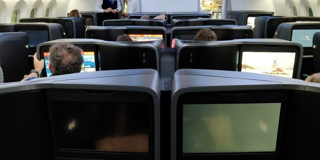Turkish Airlines Business Class Boeing 787 Kabine