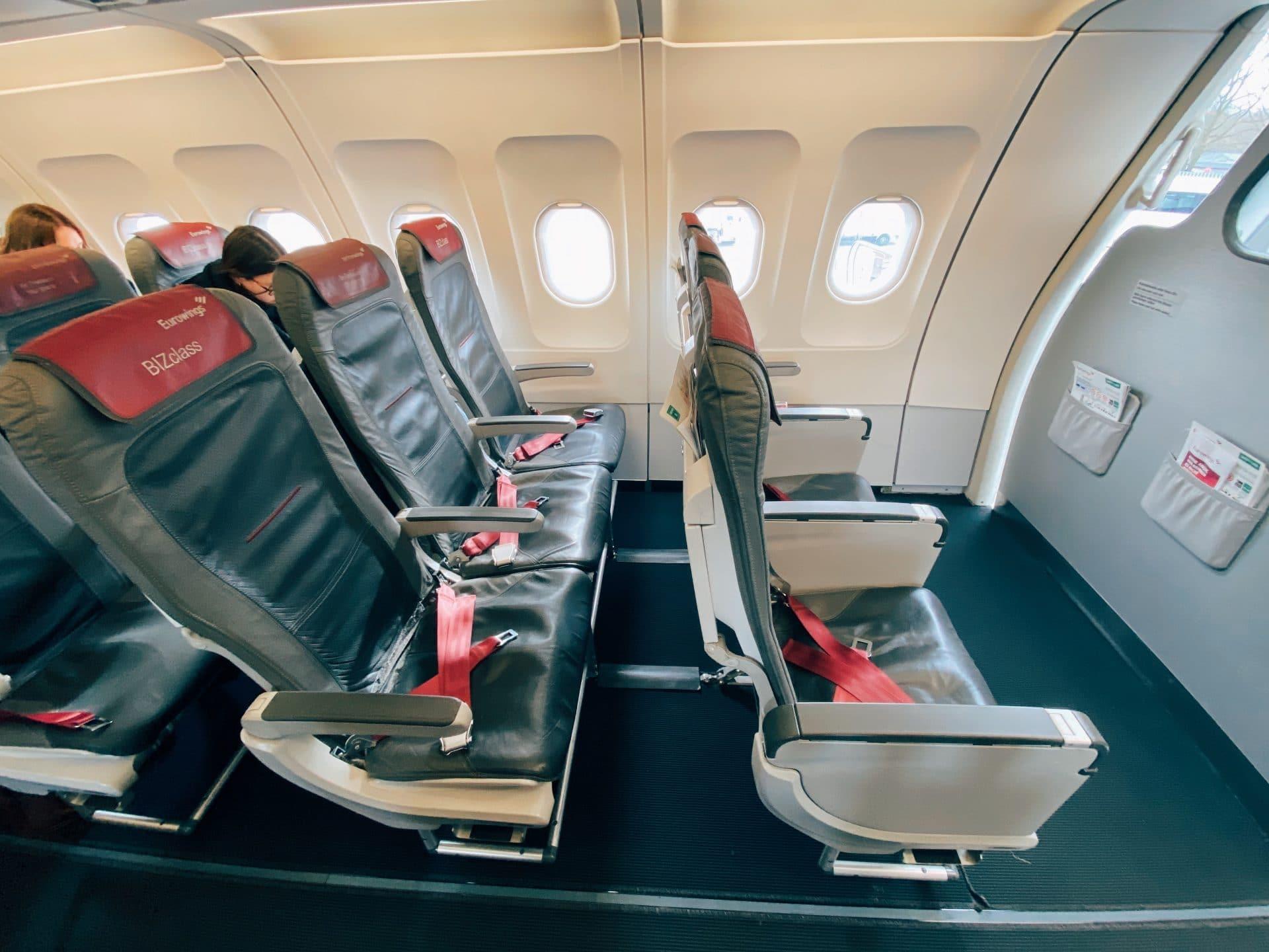 Eurowings BIZclass A319 Sitze