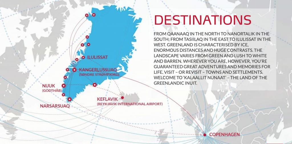 Air Greenland Streckennetz