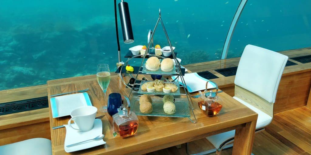 Conrad Maldives Rangali Island Ithaa Restaurant Afternoon Tea 2