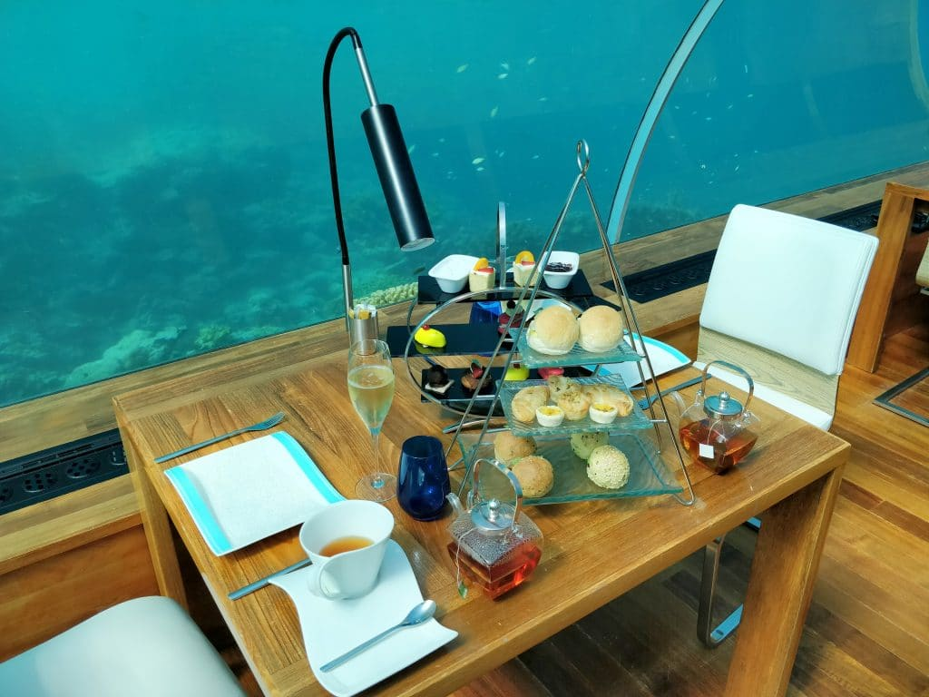 Conrad Maldives Rangali Island Ithaa Restaurant Afternoon Tea 3