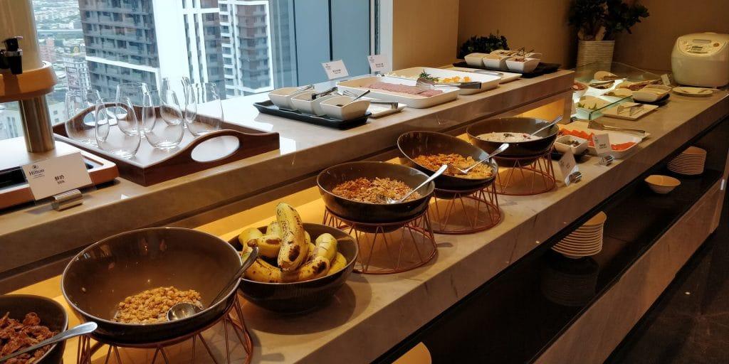 Hilton Taipei Sinban Lounge Frühstück 2