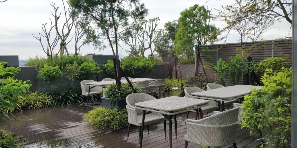 Hilton Taipei Sinban Lounge Terrasse