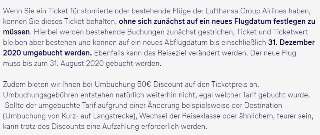 Lufthansa Gutschein Corona