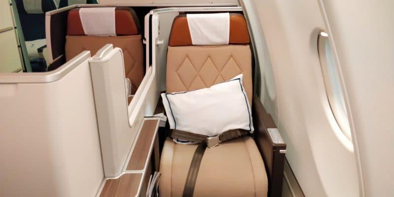 Oman Air Business Class Airbus A330 Sitz 10