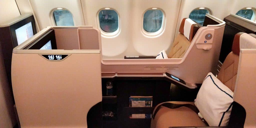 Oman Air Business Class Airbus A330 Sitz 12