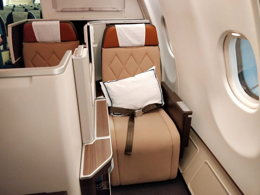 Oman Air Business Class Airbus A330 Sitz 13