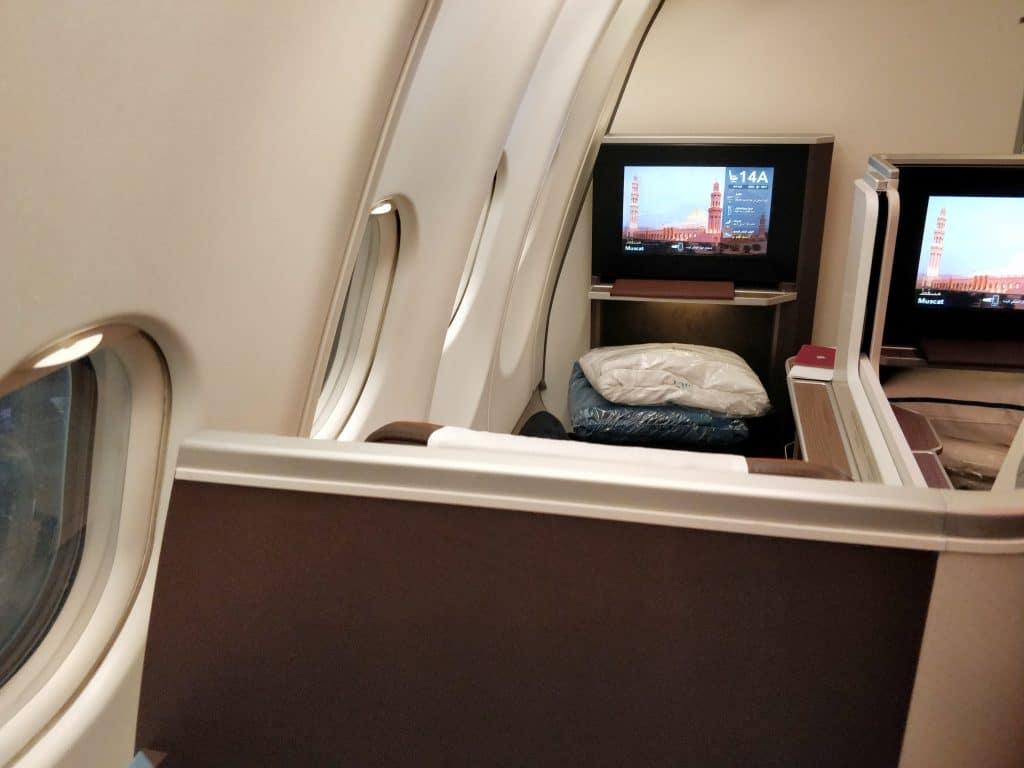 Oman Air Business Class Airbus A330 Sitz 14