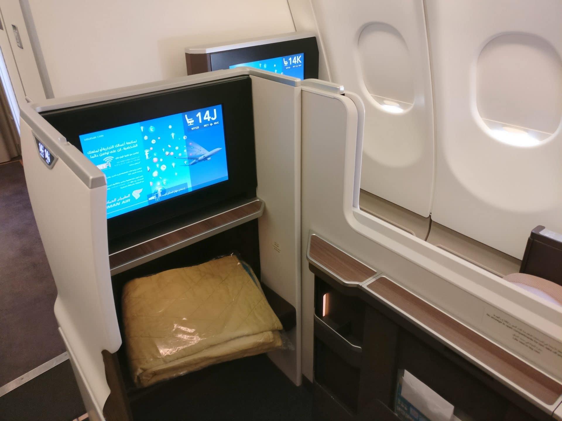 Oman Air Business Class Airbus A330 Sitz 4
