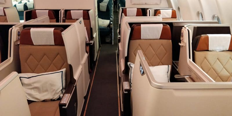 Oman Air Business Class Airbus A330 Sitz 5