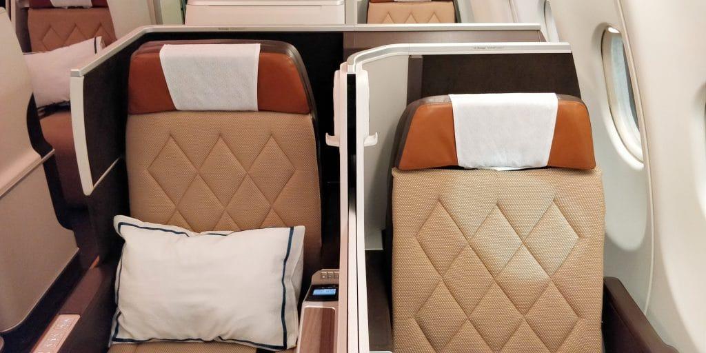 Oman Air Business Class Airbus A330 Sitz 6