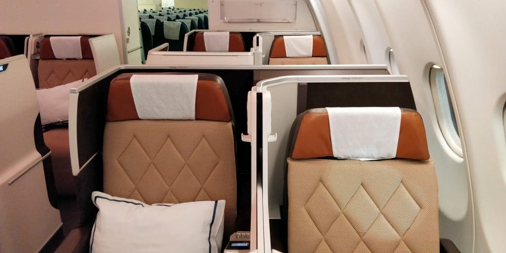 Oman Air Business Class Airbus A330 Sitz 8