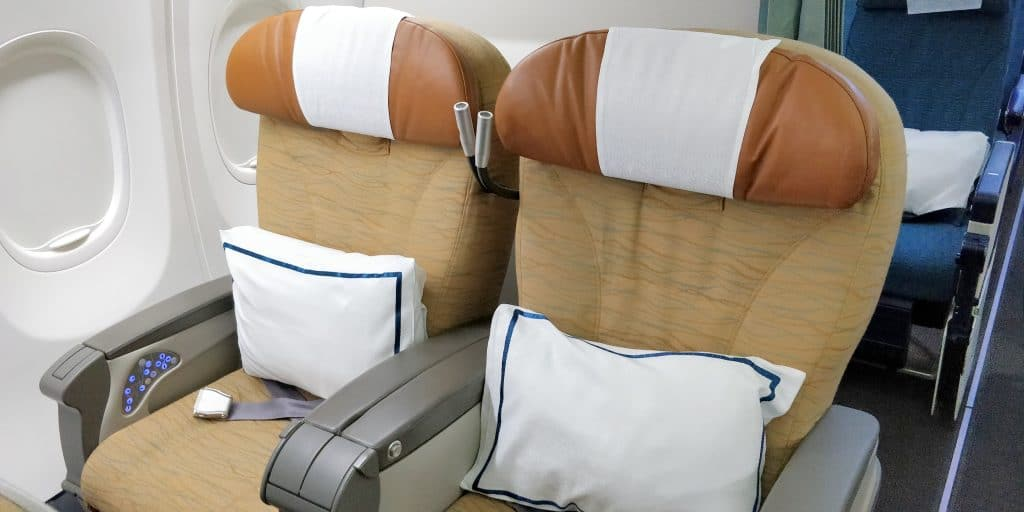 Oman Air Business Class Boeing 737 Sitz