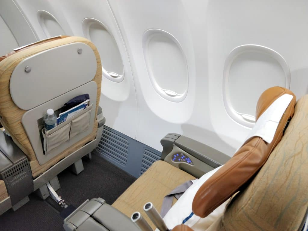 Oman Air Business Class Boeing 737 Sitz 4