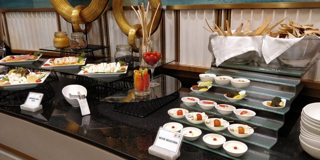Oman Air Lounge Maskat Buffet