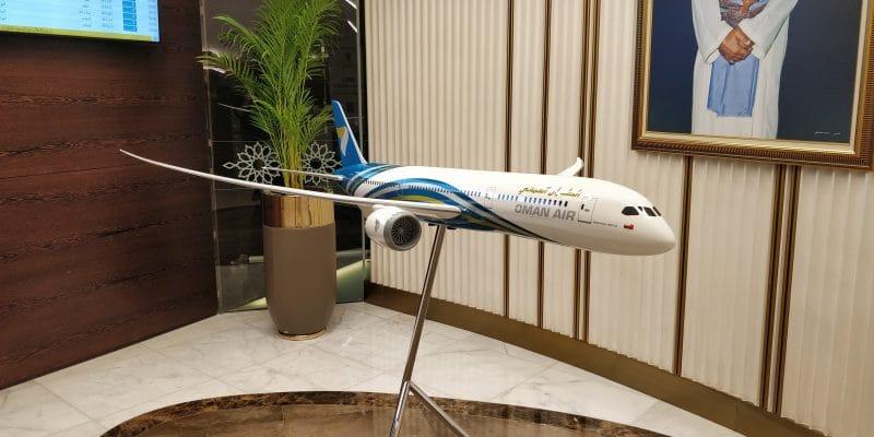Oman Air Lounge Maskat Eingang