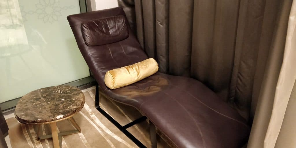 Oman Air Lounge Maskat Ruhebereich