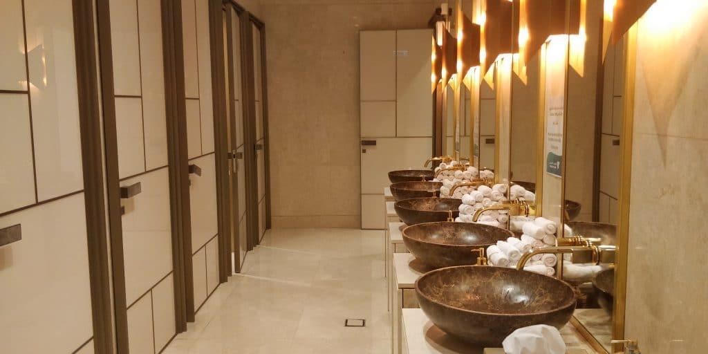 Oman Air Lounge Maskat Toiletten
