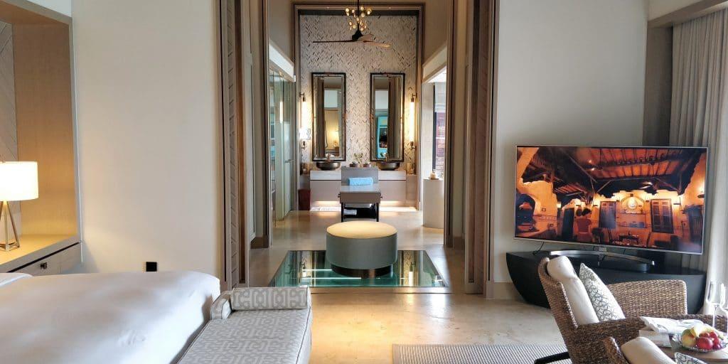 Waldorf Astoria Maldives Ithaafushi Overwater Villa Schlafzimmer 15