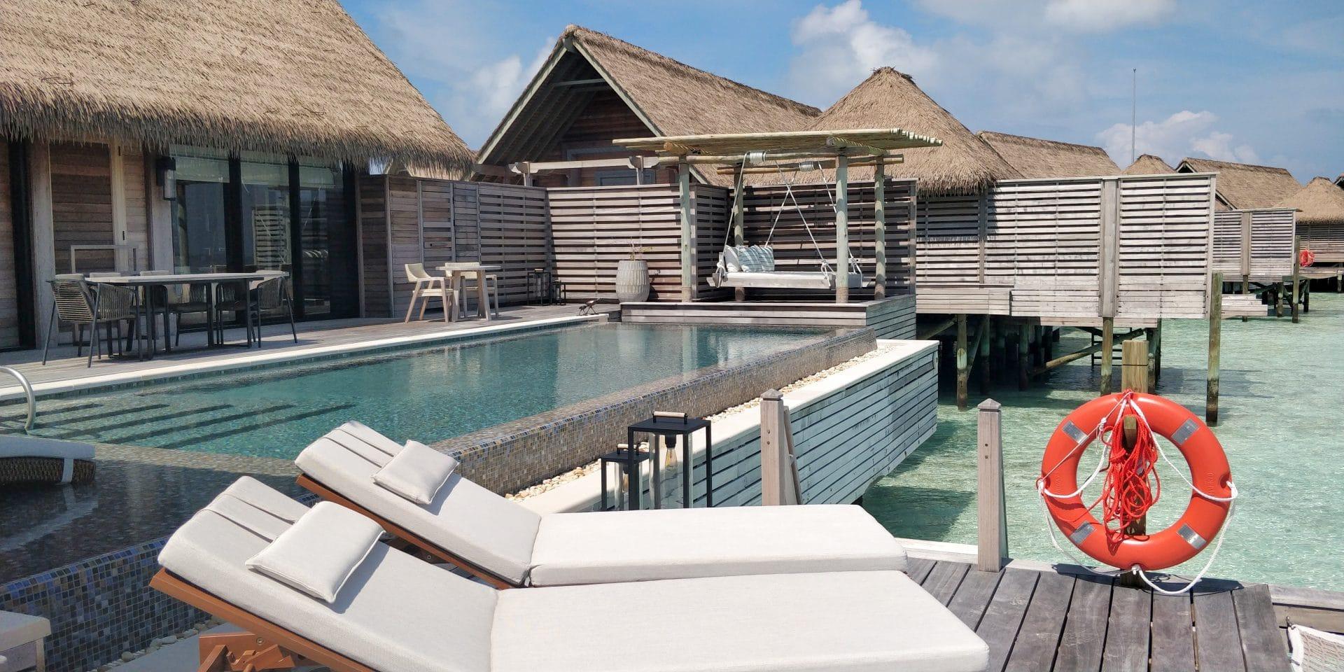 Waldorf Astoria Maldives Ithaafushi Overwater Villa Terrasse 18