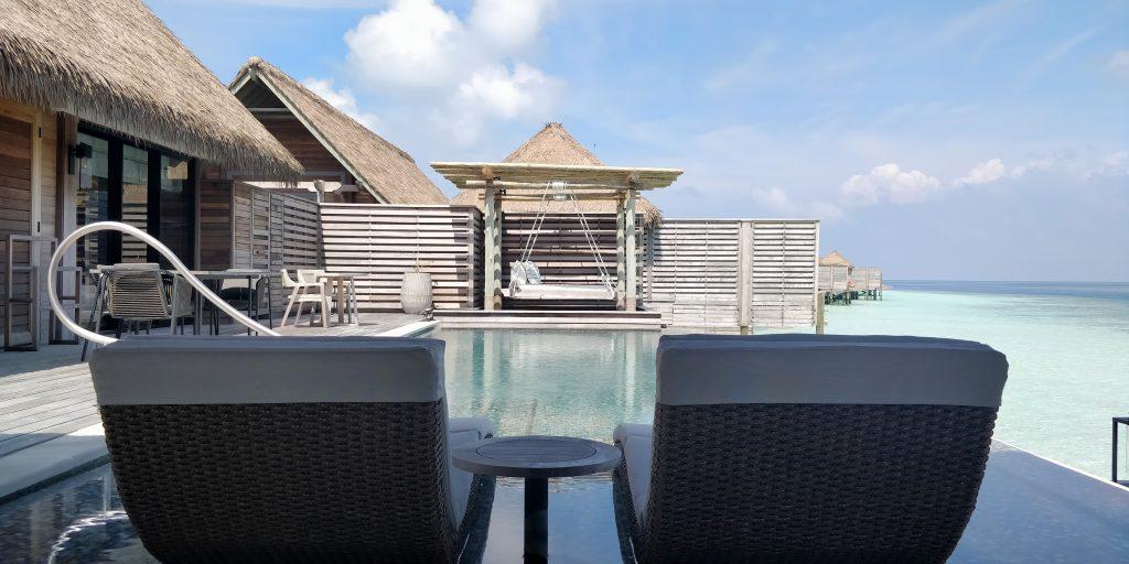 Waldorf Astoria Maldives Ithaafushi Overwater Villa Terrasse 22
