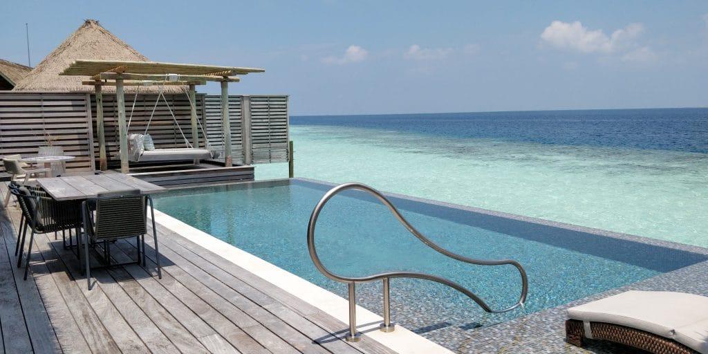 Waldorf Astoria Maldives Ithaafushi Overwater Villa Terrasse 26