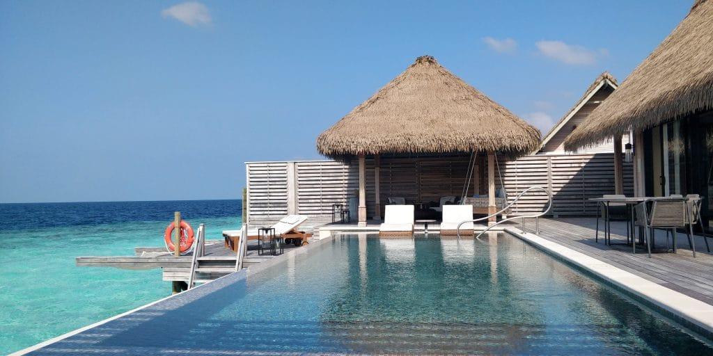 Waldorf Astoria Maldives Ithaafushi Overwater Villa Terrasse 27