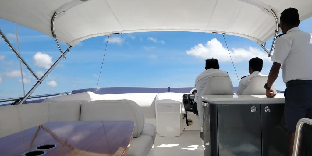 Waldorf Astoria Maldives Ithaafushi Yacht Fahrt 4
