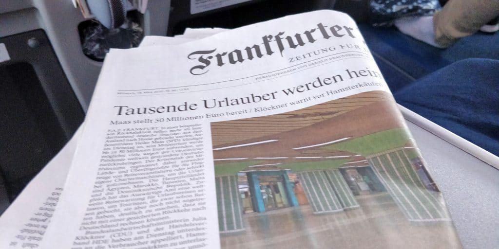 Condor Business Class Zeitung