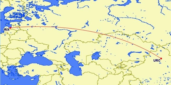 airBaltic Riga - Ürümqi