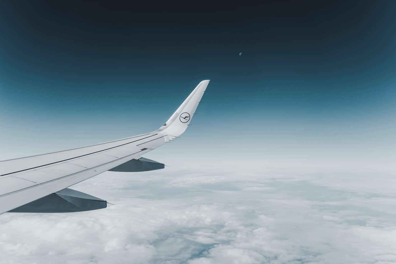 Lufthansa Airplane Wing