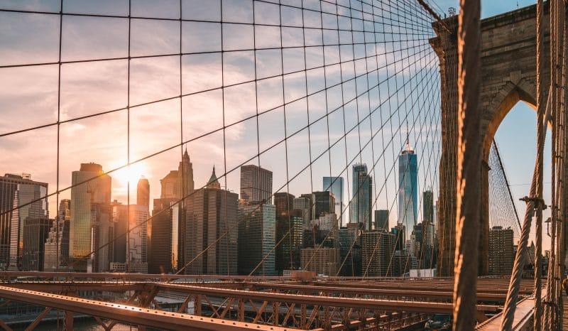 Brooklyn Bridge New York City Ausland Kreditkarte Kinderkonto