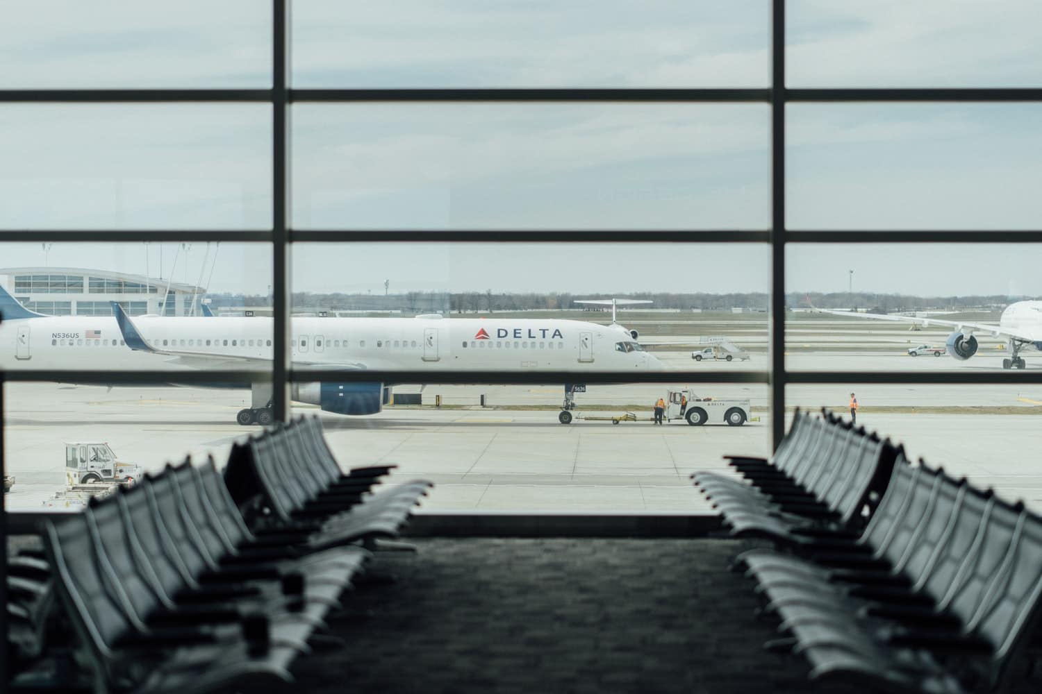 Delta Airplane On Airport