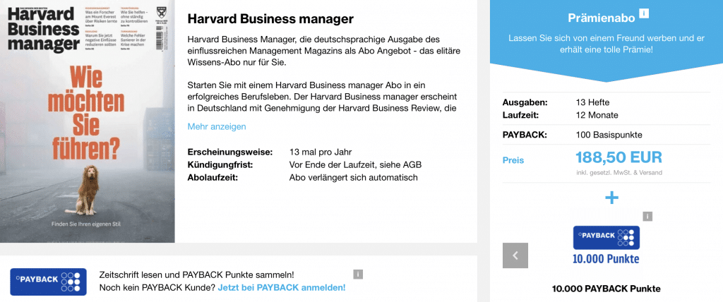 Harvard Business Manager Payback Promo