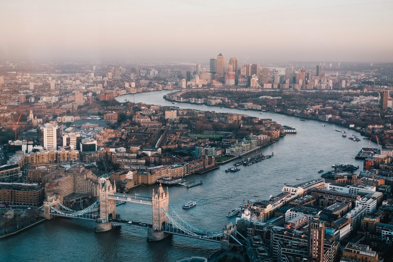 Großbritannien Skyline Themse