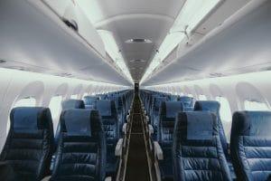 Leeres Flugzeug Corona