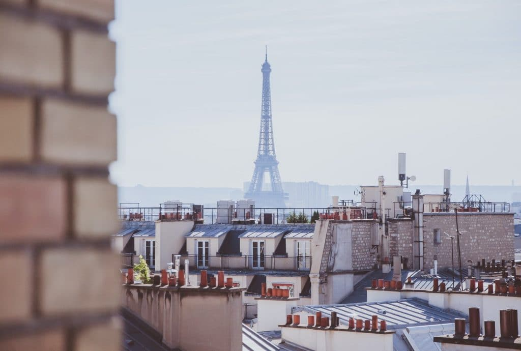 Paris Eiffelturm Skylin