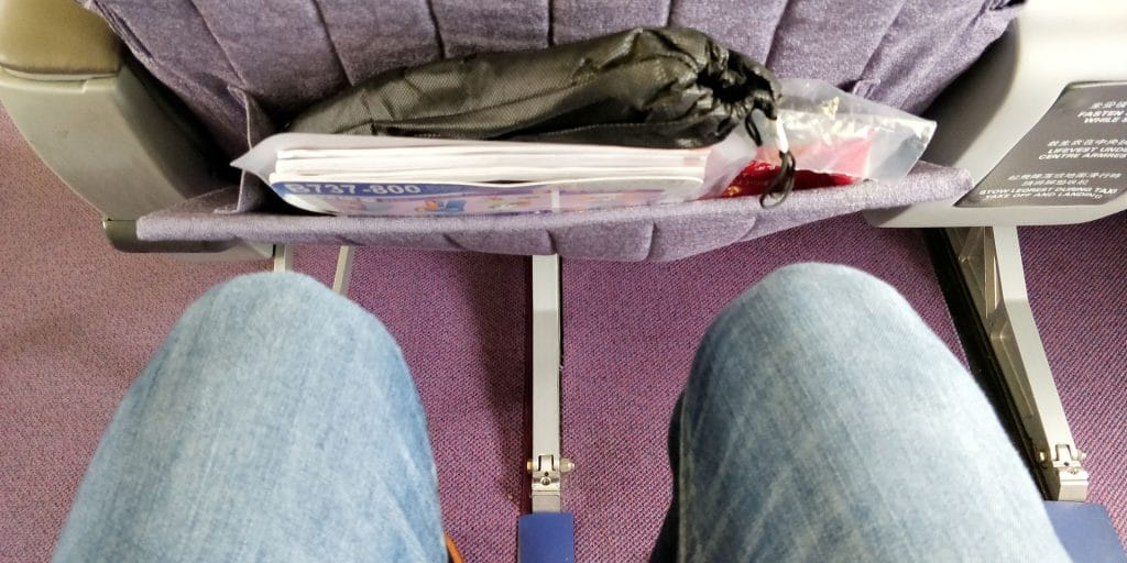 China Airlines Business Class Boeing 737 Sitzabstand