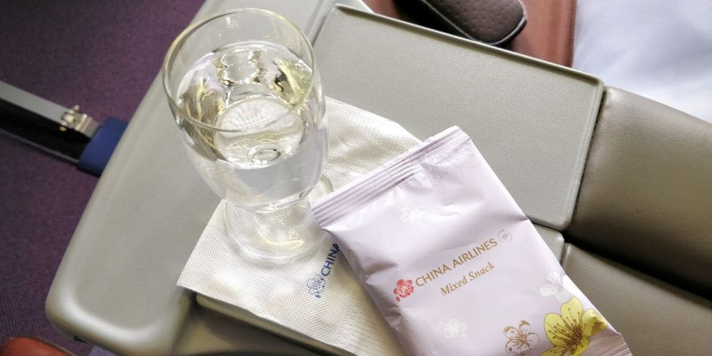 China Airlines Business Class Boeing 737 Snack