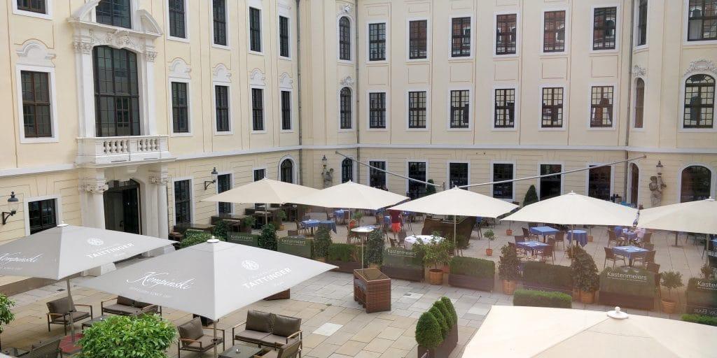 Hotel Taschenbergpalais Kempinski Dresden Innenhof