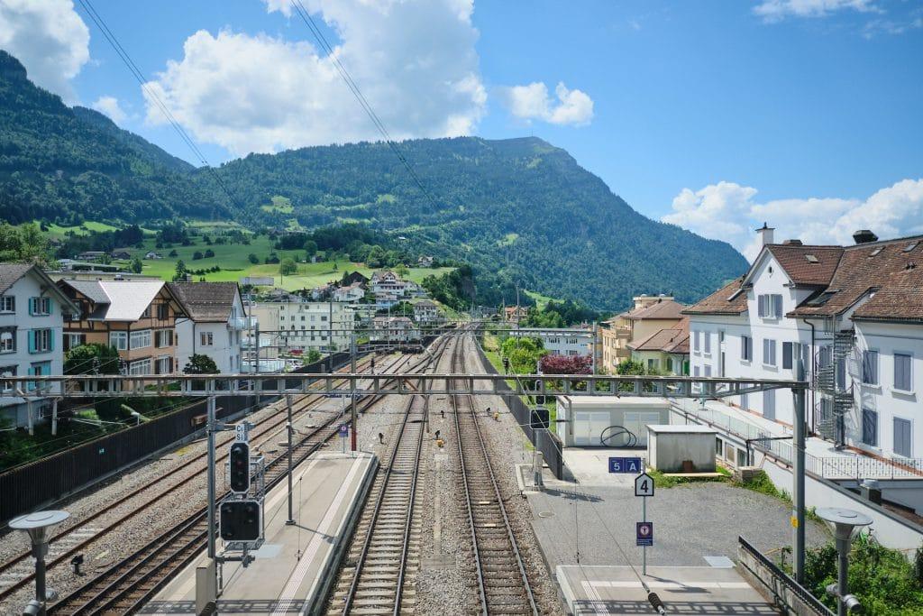 Schweiz Arth Goldau Bahnhof SBB