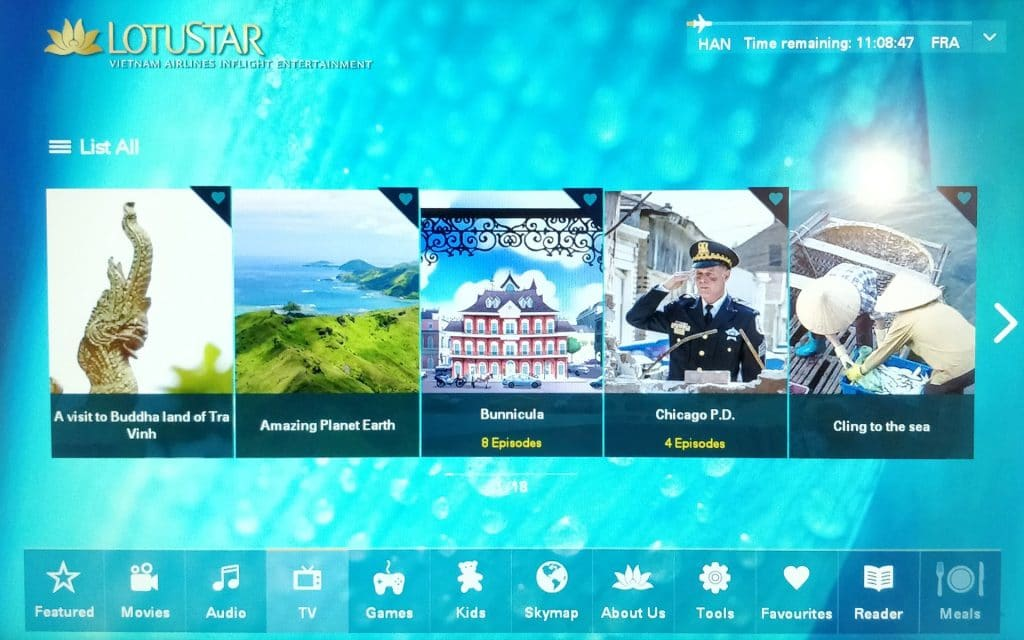 Vietnam Airlines Boeing 787 Business Class Entertainment 4